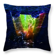 Colorscope Collage In Water Throw Pillow