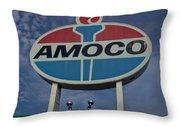 Colossal Amoco Throw Pillow