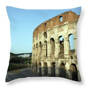 Colosseum Early Morning Throw Pillow