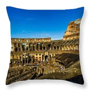 Colosseum In Rome Interior Throw Pillow