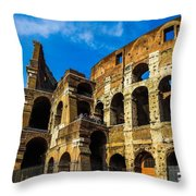 Colosseum In Rome Italy Throw Pillow