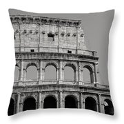 Colosseum Or Coliseum Black And White Throw Pillow