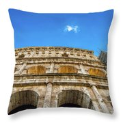 Colosseum Perspective Throw Pillow