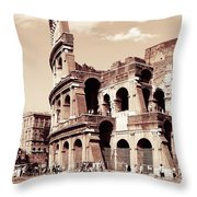 Colosseum Toned Sepia Throw Pillow