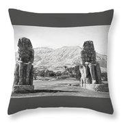 Colossi Of Memnon 2 Throw Pillow