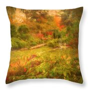 Colour Explosion In The Japanese Gardens Throw Pillow