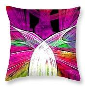 Colour Fabrics Painting Throw Pillow