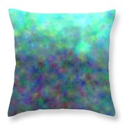 colour impression 1-A rainy summers day Throw Pillow