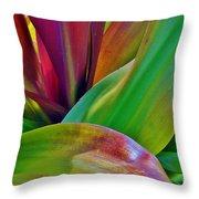 Colour Leaf 2 Throw Pillow