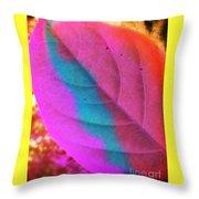 Colour Leaf Throw Pillow