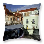 Colour Of The Streets Throw Pillow