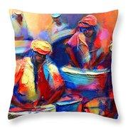 Colour Pan Throw Pillow