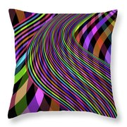 Colour River Throw Pillow