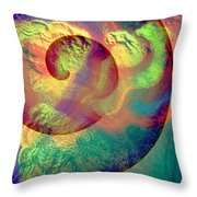Colour Spiral Throw Pillow