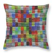 Colour Square 2 Throw Pillow