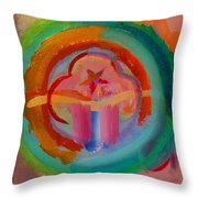 Colour States Throw Pillow