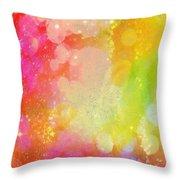 Colour Sugar Throw Pillow