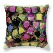 Coloured Glass Bowl Throw Pillow