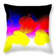 Coloured Hearts I Throw Pillow