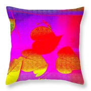 Coloured Hearts Iv Throw Pillow