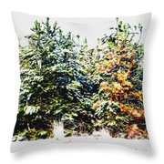 Coloured Trees  Throw Pillow