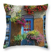 Colourful Boutique,france. Throw Pillow
