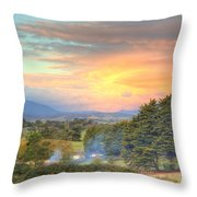 Colourful Clouds At Sunset Yarra Glen 09-05-2015 Throw Pillow