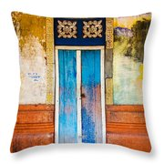Colourful Door Throw Pillow