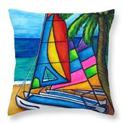 Colourful Hobby Throw Pillow