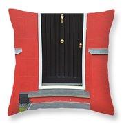 Colourful House Throw Pillow