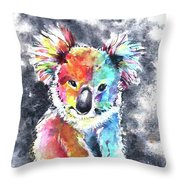 Colourful Koala Throw Pillow