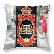 Colourful Lamp Post With The City Of Westminster Coat Of Arms London Throw Pillow