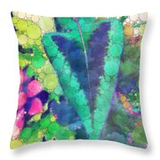 Colourful Leaves Throw Pillow