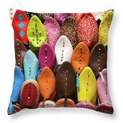 Colourful Morroccan Slipper Throw Pillow