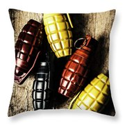 Colourful Munitions  Throw Pillow