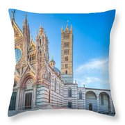 Colourful Siena Cathedral Throw Pillow