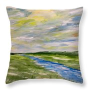 Colourful Sky Over The Creek Throw Pillow