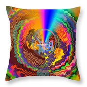 Colourful Swirl Of Goodluck Throw Pillow