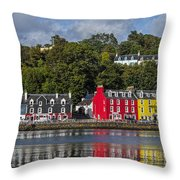 Colourful Tobermory Throw Pillow