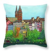 Colours Of Basel Throw Pillow