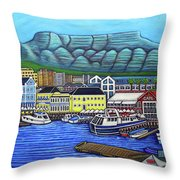 Colours Of Cape Town Throw Pillow