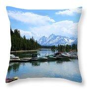 Colter Bay On Jackson Lake  Throw Pillow