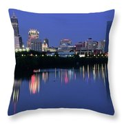 Colts Blue Hour Night Throw Pillow