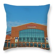 Colts Stadium Throw Pillow