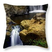 Columba River Gorge Falls 2 Throw Pillow
