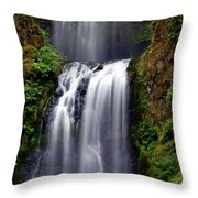 Columba River Gorge Falls 3 Throw Pillow
