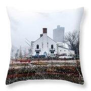 Columbia Boathouse Throw Pillow