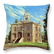 Columbia County Courthouse Throw Pillow