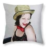 Columbia During A Rhps Performance Throw Pillow