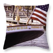 Columbia From The Stern Throw Pillow